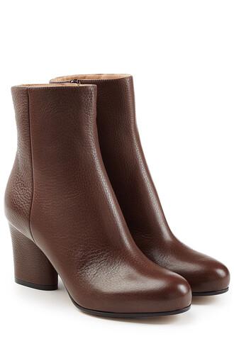 leather ankle boots boots ankle boots leather brown shoes