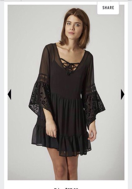 dress black dress lace dress
