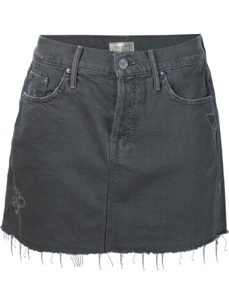 skirt denim skirt denim mini grey