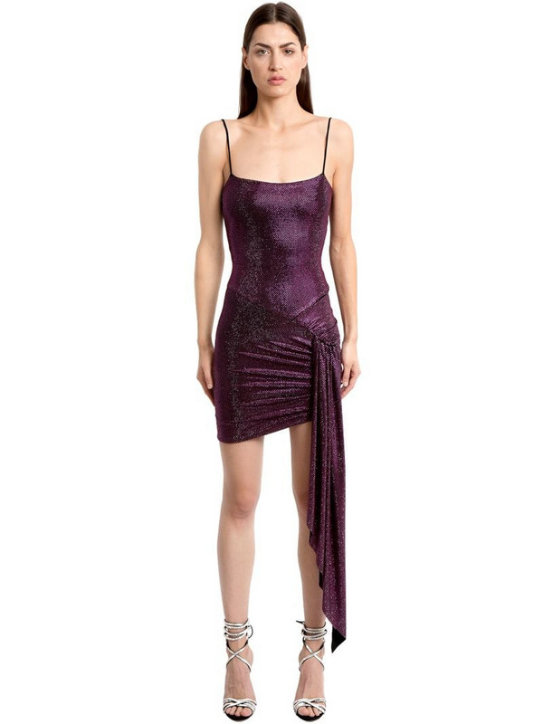 e627ccf9 ALEXANDRE VAUTHIER Crystals Embellished Ruched Jersey Dress in fuchsia