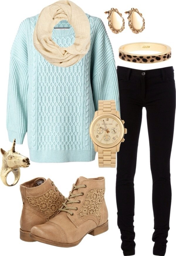 jeans jewels shoes sweater