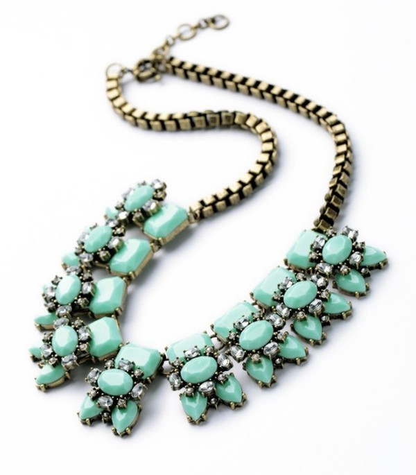 jewels mint bib necklaces statement necklace