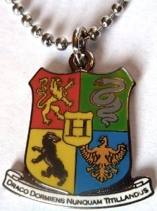 Amazon.com: harry potter hogwarts coat of arms crest pendant necklace w/ball chain: everything else