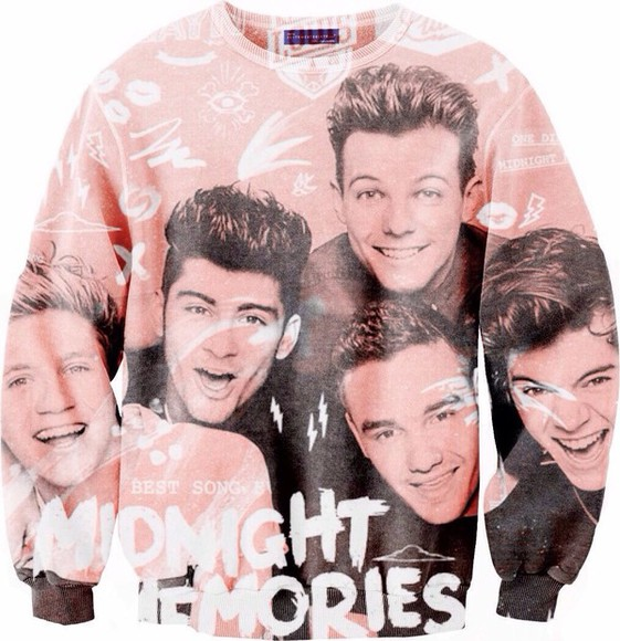 all over printed sweatshirts one direction crewneck one direction sweater sweater