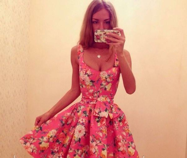 dress summer dress flowers flower dress cute floral summer red floral dress cute dress dress short dress prom dress