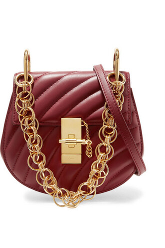 quilted bag shoulder bag leather
