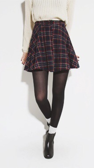 skirt plaid skirt mini skirt style schoolgirl