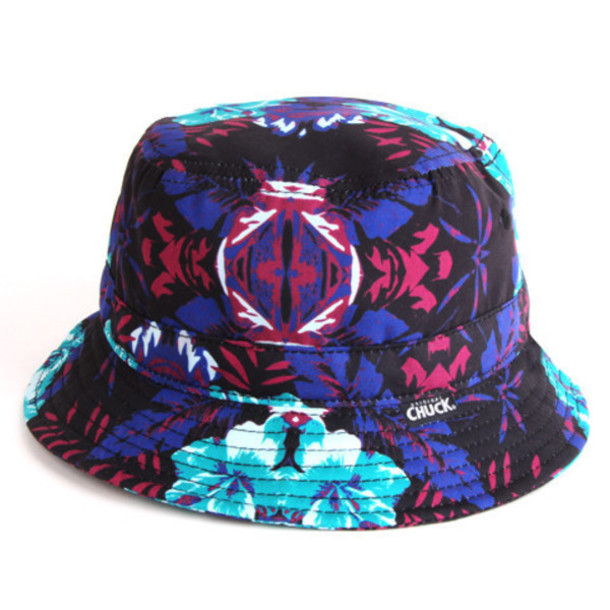 hat style bucket hat original chuck chuck originals blue hat purple hat  hawaiian cool bucket printed 026721c885a