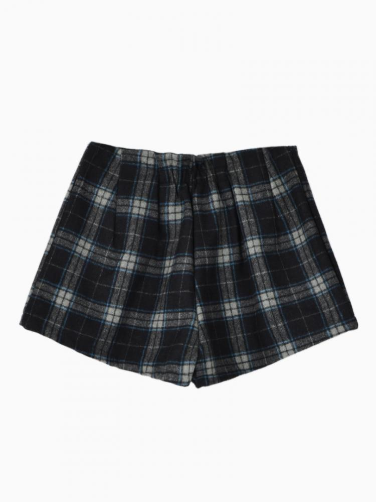 Check Duffle Shorts With Zip Back | Choies