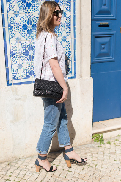 the working girl shoes jeans t-shirt bag sunglasses jewels