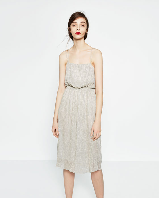 477dca3e SHIMMER FABRIC DRESS - View all-DRESSES-WOMAN-COLLECTION AW16   ZARA United  States
