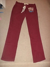 pants,women,betty's,hollister,burgundy,skinny,sweatpants