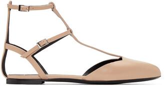 flats beige shoes