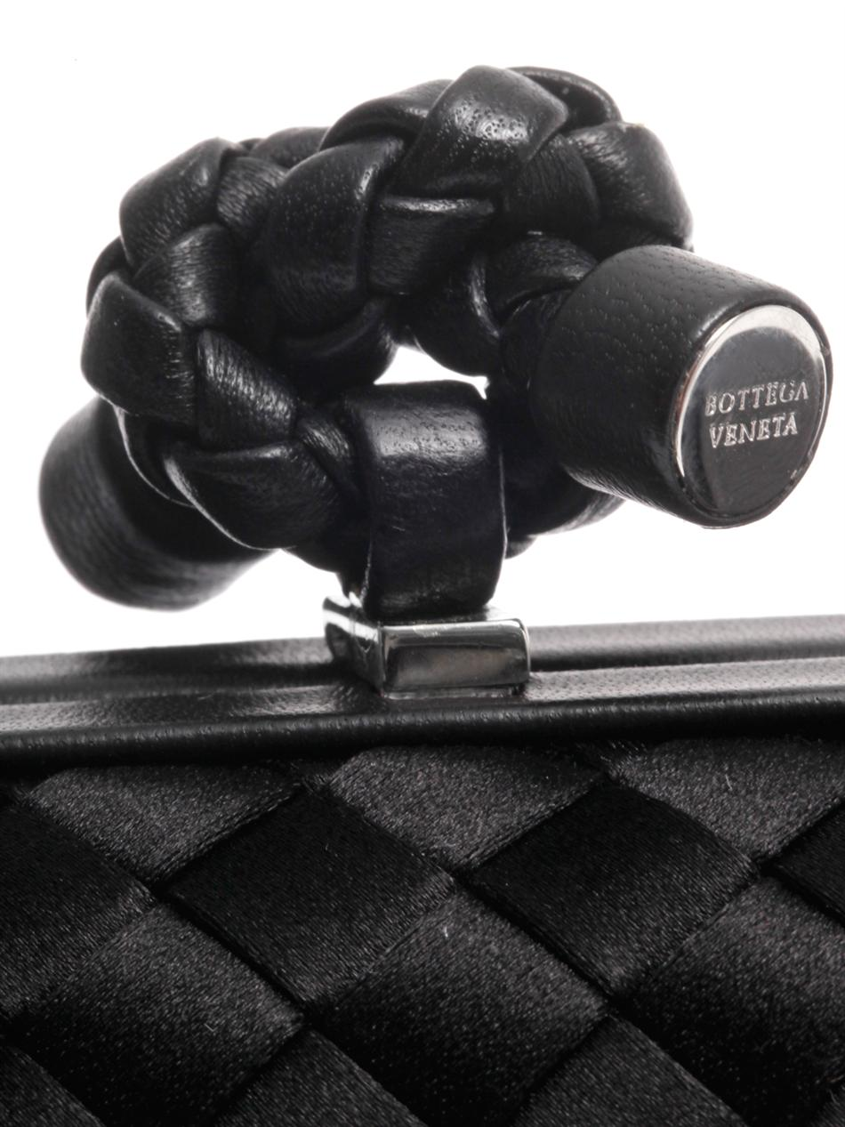 Knot satin and leather clutch | Bottega Veneta | MATCHESFASHIO...