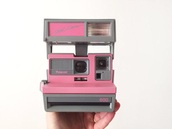 home accessory,pink,camera,polaroid camera