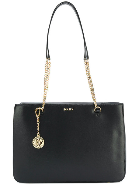 DKNY - Chain shopper - women - Leather - One Size, Black, Leather