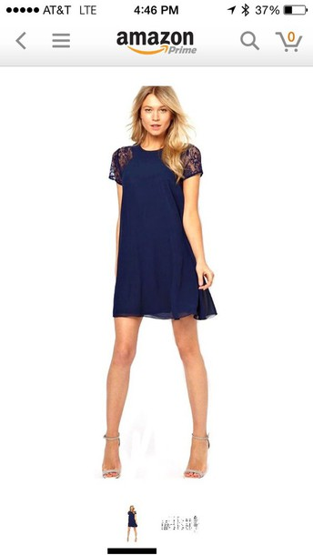 dress chiffon blue dress