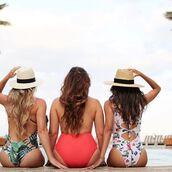 swimwear,one piece swimsuit,brazilian bikini bottom,one piece,open back,sexy,sexy swimwear,vacation outfits,vacation swimwear,vacation swim,vacation fashion,vacation style,travel,travel style,instagram blogger,blogger,fashion blogger,travel blogger,eslifeandstyle,white,green,floral,palm tree print,deep v swimwear,floral maxi dress,low cut monokini