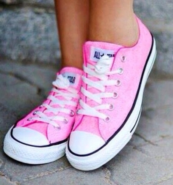shoes pink converse pink sneakers