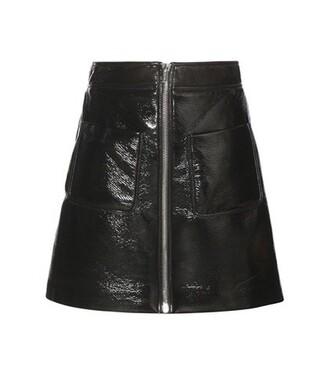 miniskirt leather black skirt
