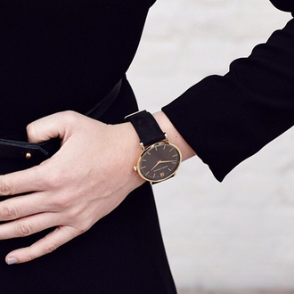 jewels watch tumblr tumblr watch black watch black and gold