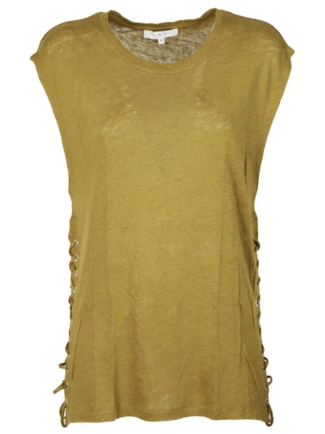 Iro t-shirt shirt t-shirt khaki top