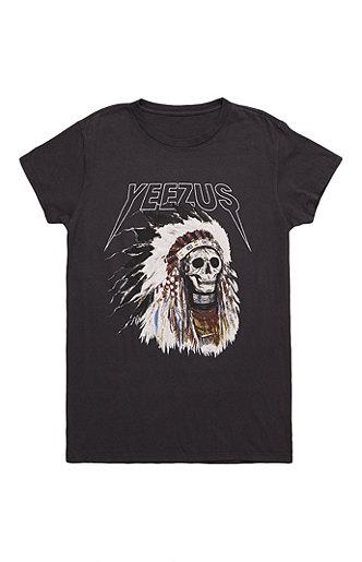Yeezus tour merch indian headress t