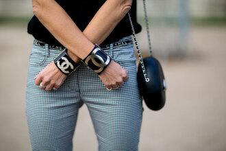 jewels bracelets purse chanel fashion week 2016 paris fashion week 2016 streetstyle