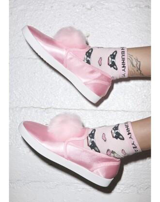 socks yeah bunny pink pastel cute dog pugs frenchie kawaii