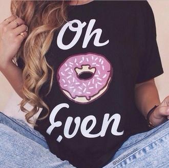 t-shirt donut top black