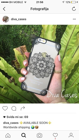 phone cover iphone case iphone henna case henna design mandala mandala iphone case black iphone mandala case black case clear case clear iphone case iphone 6 case