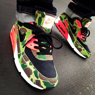 camouflage shoes mens shoes dope nike nike shoes air max nike sneakers red too dope swag