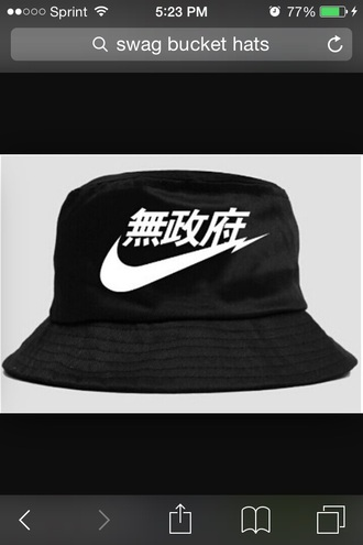 hat bucket hat black nike