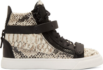 snake london sneakers silver black shoes