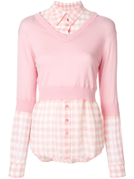 BOUTIQUE MOSCHINO top women cotton wool purple pink