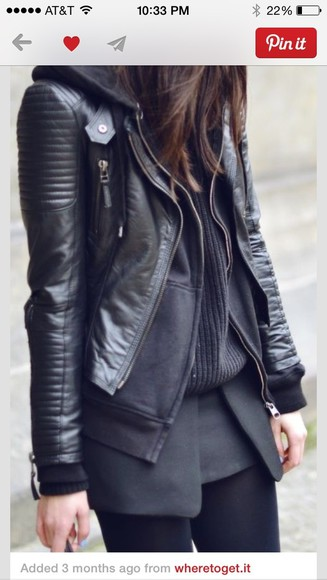jacket moto jacket black leather jacket biker jacket