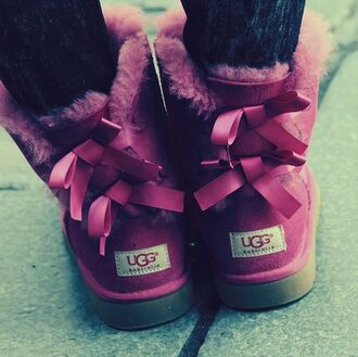 ugg boots lace up ribbon purple purple shoes pink shoes shoes boots winter outfits