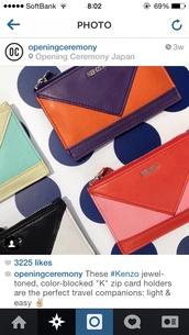 bag,card case,kenzo