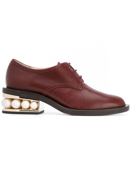 Nicholas Kirkwood women pearl shoes leather red