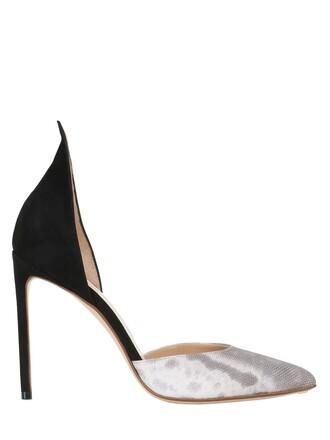 d'orsay pumps pumps suede black grey shoes