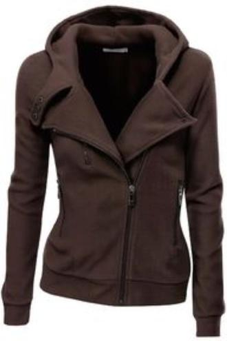 jacket coat red winter outfits zip motorcycle jacket zip up