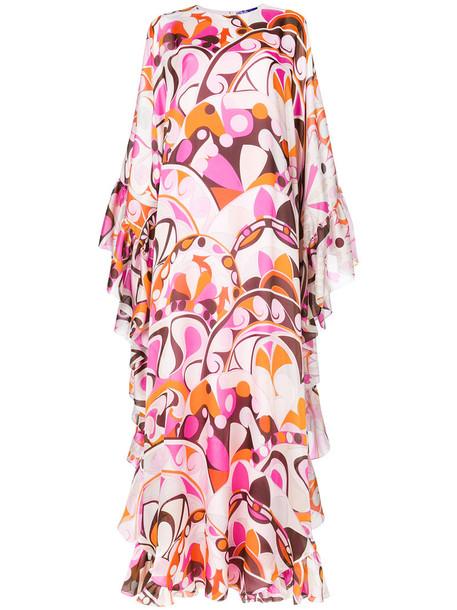 Emilio Pucci gown style women spandex silk purple pink dress