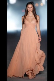 prom dress,peach dress,pink dress,dress,maxi dress,pinterest,fashion,2013,peach,gown