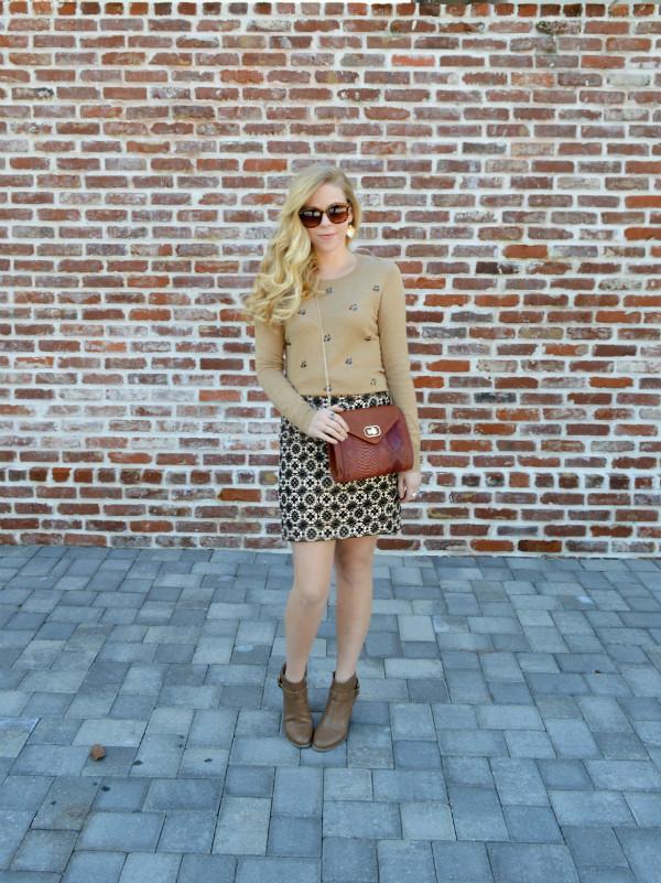 fash boulevard blogger skirt pattern jumper jacquard