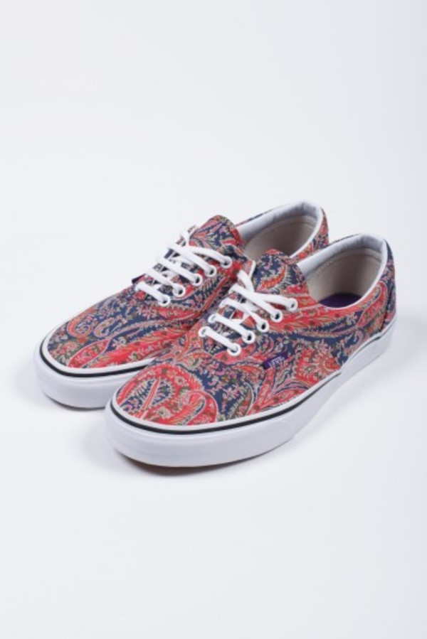 shoes red paisley vans multicolor sneakers
