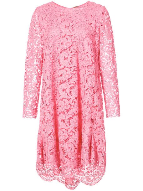 dress long women lace purple pink