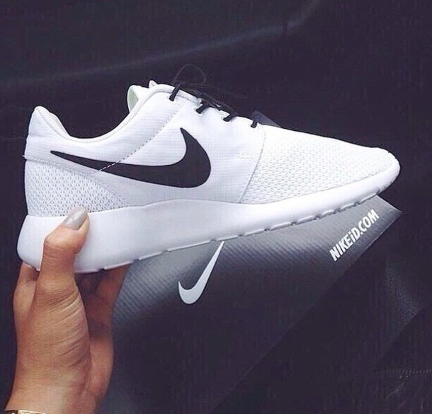 nike nike running shoes nike shoes black white shoes nike roshe run roshes black and white roshe runs white nikes white shoes with black laces and  tick white and black nike joggers sweater