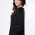 Women Open Weave Back CUT OUT V Neckline Dipped HEM Sweater Knit TOP Jumper | eBay