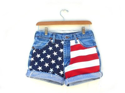 Women s Vintage High Waist American USA Flag Shorts Denim Sz 28 Women s  Vintage Hi Waist American ... fd279b427f