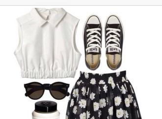 tank top collared top white shirt shirt collared shirt collared shirts collared white shirt crop tops white crop tops crop skirt